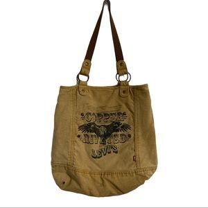 LEVI ▪️ 80s Copper Rivet Tote Bag